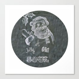 Santa St. Nick Chalkboard holiday message Canvas Print