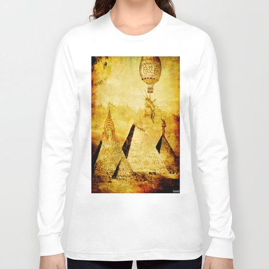The transformation of pyramids Long Sleeve T-shirt