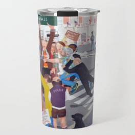 The colourful Assassination of Donald Trump in New York City Travel Mug