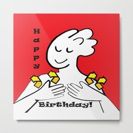 ASL Happy Birthday! Metal Print