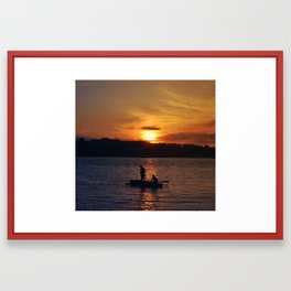 Just silhouettes in the sun Framed Art Print