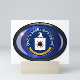 CIA Flag Oval Mini Art Print