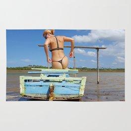 Blue boat Rug