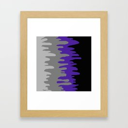 Splash of colour (purple & gray) Framed Art Print