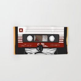 The cassette tape cat Hand & Bath Towel