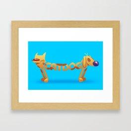 Cat & Dog Framed Art Print