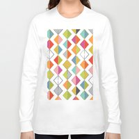 diamonds Long Sleeve T-shirts featuring Diamonds by Amy Schimler-Safford