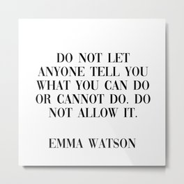 emma watson quote Metal Print