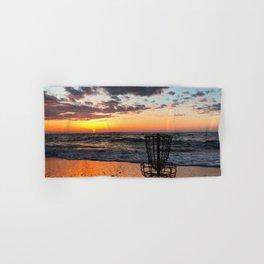Disc Golf Basket Virginia Beach Atlantic Sunset Frisbee Chesapeake Bay Camping Hand & Bath Towel
