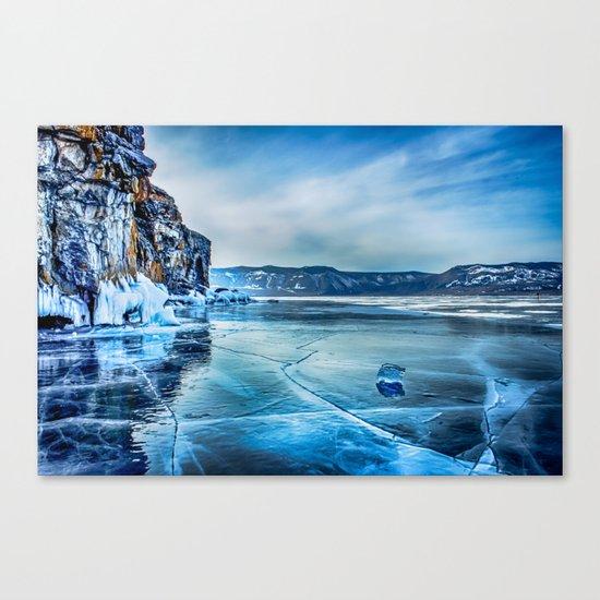 Lake Baikal. March Canvas Print