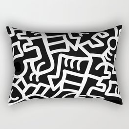 Dazed and Confused at Night Rectangular Pillow