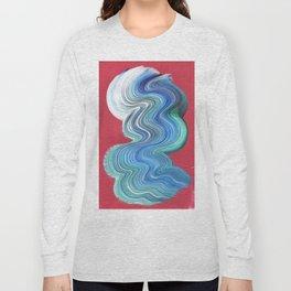 Blue Brush Stroke Long Sleeve T-shirt