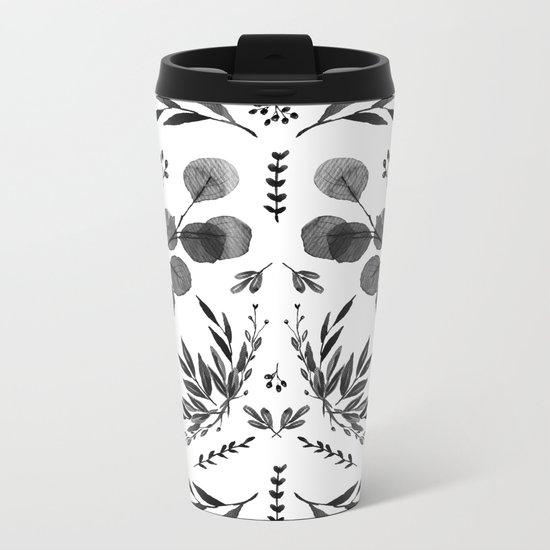 Black and white scence Metal Travel Mug