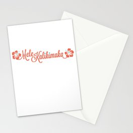Mele Kalikimaka Stationery Cards