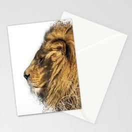Lion Head Splatter Stationery Cards