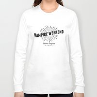 vampire weekend Long Sleeve T-shirts featuring Vampire Weekend // Modern Vampires of the City by alquimie