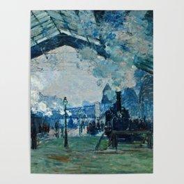 Claude Monet - Arrival Of The Normandy Train, Gare Saint Lazare Poster