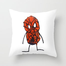Silas Rocket Superhero 3 Throw Pillow