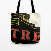 theatre Tote Bags featuring Old Theatre by Massimiliano Bertozzi