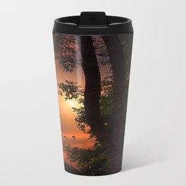 LATE AUGUST SUNSET Metal Travel Mug