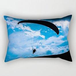 paragliding blue Rectangular Pillow