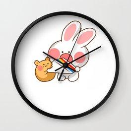 Kawaii Bunny Anime Lover Manga Japan Wall Clock