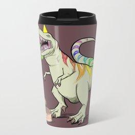 T-Rex Rainbow Party Dino Metal Travel Mug