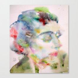 MARIA CALLAS - watercolor portrait Canvas Print