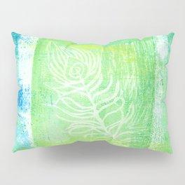 blue & green peacock Pillow Sham