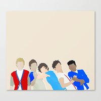 one direction Canvas Prints featuring One Direction by Natasha Ramon