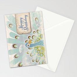 Peacock Happy Birthday Card Stationery Cards