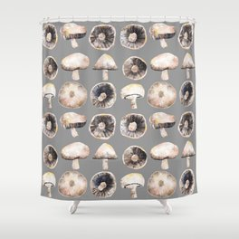 Possibly Poisonous Mushrooms Shower Curtain