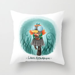 Laure Nithorynque Throw Pillow