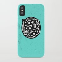 rock and roll iPhone & iPod Cases featuring Rock & Roll God by Josh LaFayette