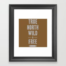 True North Framed Art Print