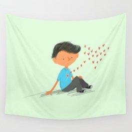 Boy in Love Wall Tapestry
