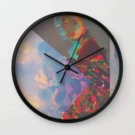 Wrapped in Flowers, Living in the Clouds Wall Clock