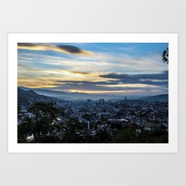 Sunset and Sarajevo Art Print