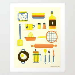 Kitchen stuffs Art Print
