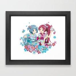 Sayaka Miki & Kyoko Sakura - Love Yukata edit. Framed Art Print