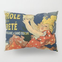 Vintage French lamp oil ad by Chéret Pillow Sham