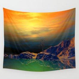 Sonnenuntergang über der Insel Wall Tapestry