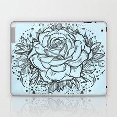 Rose on Blue Laptop & iPad Skin