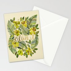 Killin' It – Tropical Yellow Stationery Cards