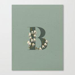 B for Bellflower Canvas Print