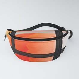 Orange Yellow Watercolor Abstract Pattern Fanny Pack