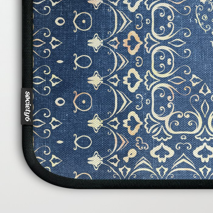 Old Bookshop Magic Mandala in Blue Laptop Sleeve