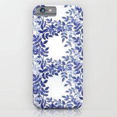 Delicate watercolor pattern with leaves Slim Case iPhone 6s
