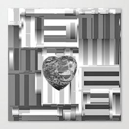 Jasper Heart in Vacancy Canvas Print