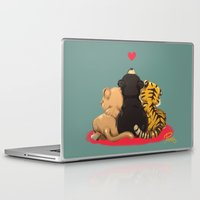 best friends Laptop & iPad Skins featuring Best Friends by Patara